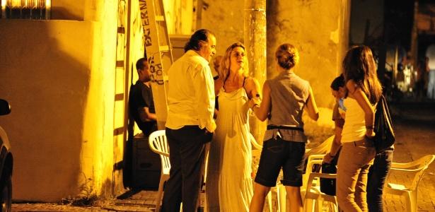 """Tony Ramos e Adriana Esteves gravam as primeiras cenas da nova novela das nove """"Avenida Brasil"""", no centro do Rio (1/3/12)"""