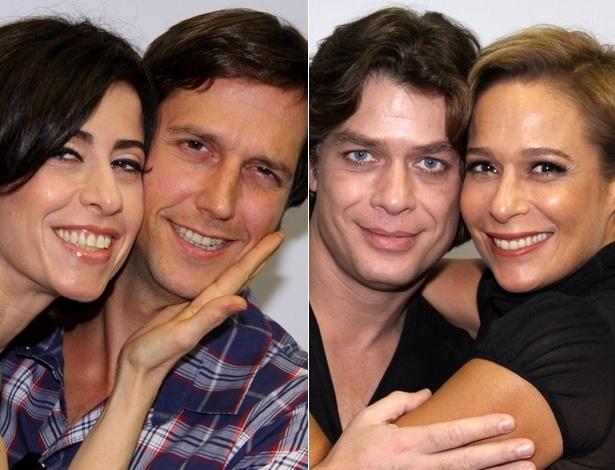 """Fernanda Torres e Vladimir Brichta, e Fábio Assunção e Andréa Beltrão, casais em """"Tapas e Beijos"""" (21/3/12)"""
