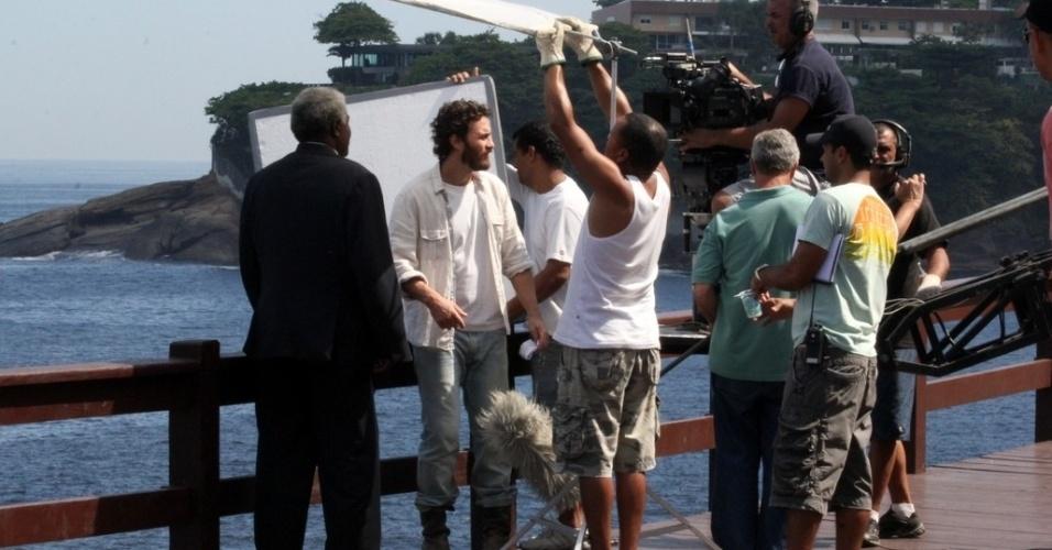 "Gabriel Braga Nunes grava cena de ""Amor Eterno Amor"" no pier do Leblon (22/3/11)"