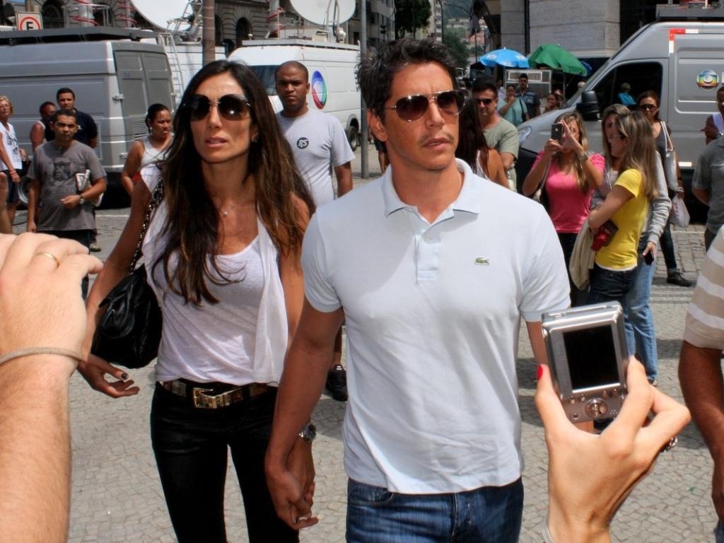 O ator Marcio Garcia hega ao velório do humorista Chico Anysio no Theatro Municipal do Rio de Janeiro. Chico morreu na tarde de sexta-feira (23) em decorrência de falência de múltiplos órgãos (24/03/2012)