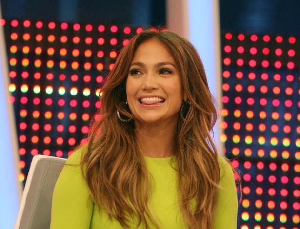 """A cantora Jennifer Lopez durante gravação do programa """"O Melhor do Brasil"""", em São Paulo (26/3/2012)"""