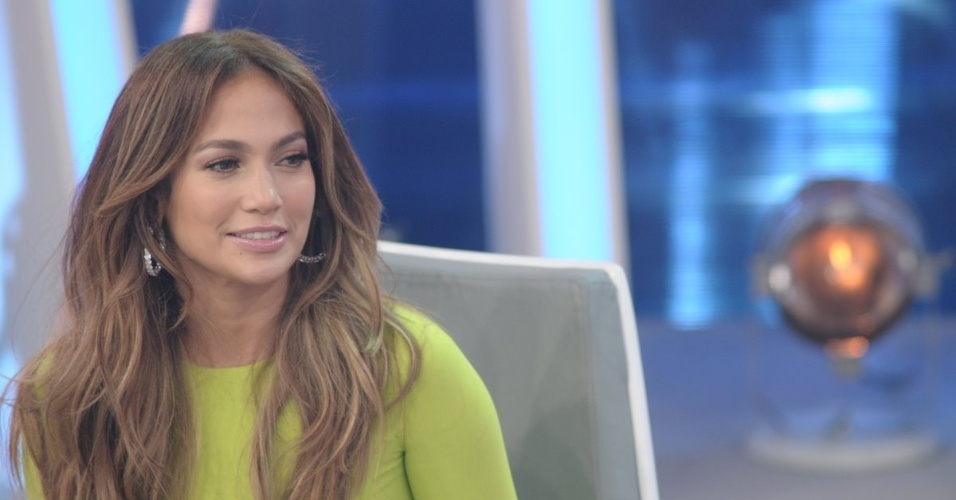 Jennifer Lopez e Rodrigo Faro durante a gravao de 