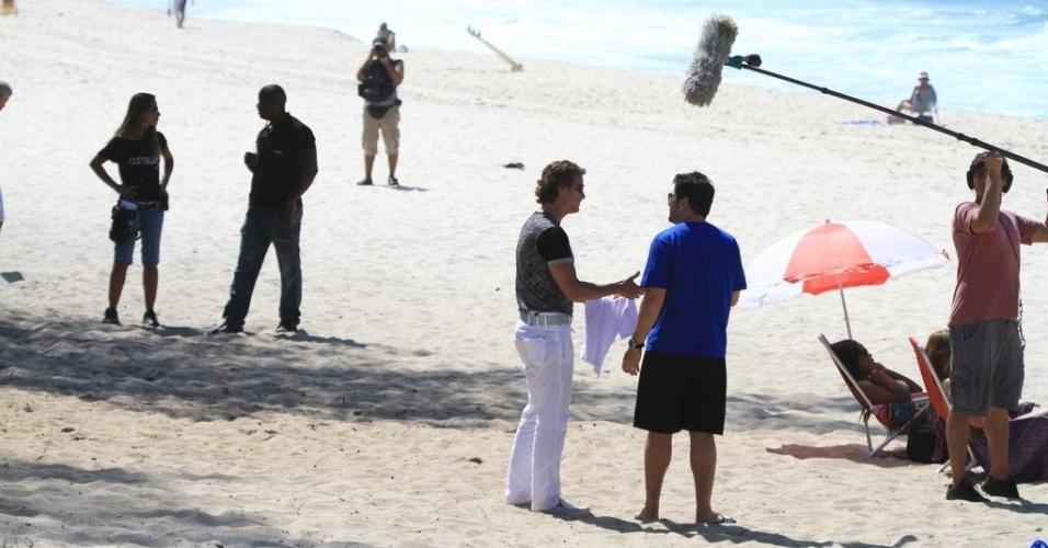 Murilo Benício (Tufão) e Marcelo Novaes (Max) gravam cenas de