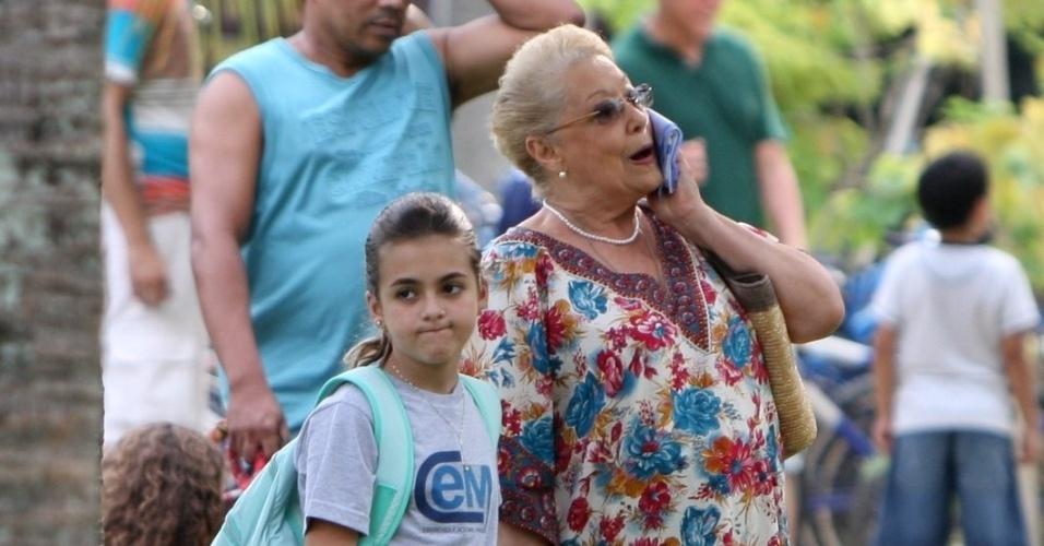"Klara Castanho grava cena da novela ""Amor Eterno Amor"" (9/4/12)"