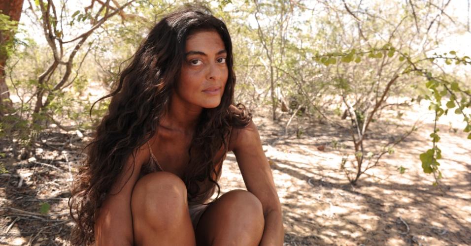 """Juliana Paes (Gabriela) em cena de """"Gabriela"""" (30/4/12). O remake teve gravações no Piauí e na Bahia"""