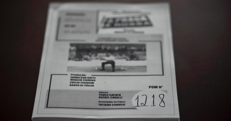 """""""O dia 7 de maio de 1987, estreia da ?Praça É Nossa? no SBT, foi o dia de maior alegria artística para mim. O Carlos Imperial abriu os direitos da música ?Praça? e, no fim do quadro, o Silvio Santos entrou no estúdio, pela primeira e única vez em que ele participou de uma atração que não era dele (4/5/12)"""