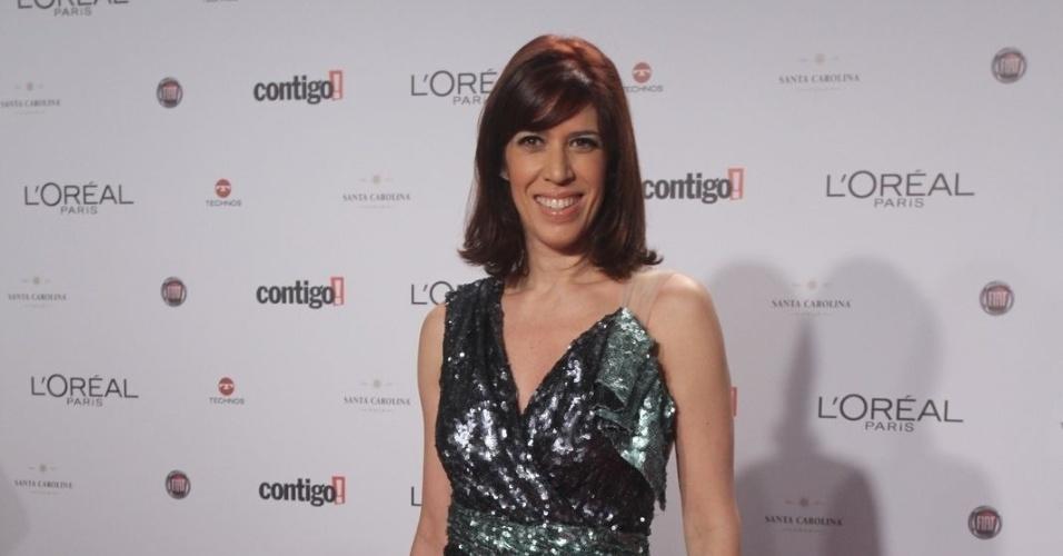 Maria Clara Gueiros no 14º Prêmio Contigo! de TV, no hotel Copacabana Palace, no Rio de Janeiro (14/5/2012)