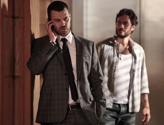 "Carmo Dalla Vecchia e Gabriel Braga Nunes em cena de ""Amor Eterno Amor"" (15/5/2012)"