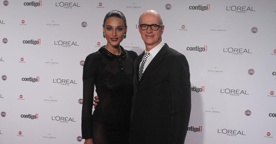 Débora Nascimento e Marcos Caruso no Prêmio Contigo! de TV (14/5/12)
