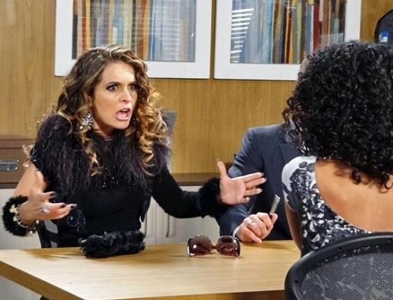 """Em """"Cheias de Charme"""", Chayene perde processo para Penha e explode de raiva (17/5/12)"""