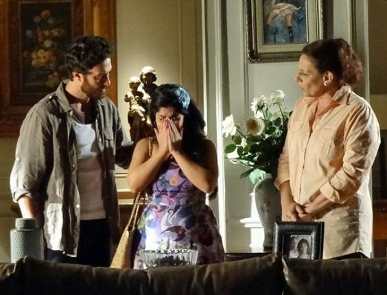 """Gabriel Braga Nunes, Daniela Fontan e Rosi Campos em cena de """"Amor Eterno Amor"""" (18/5/2012)"""
