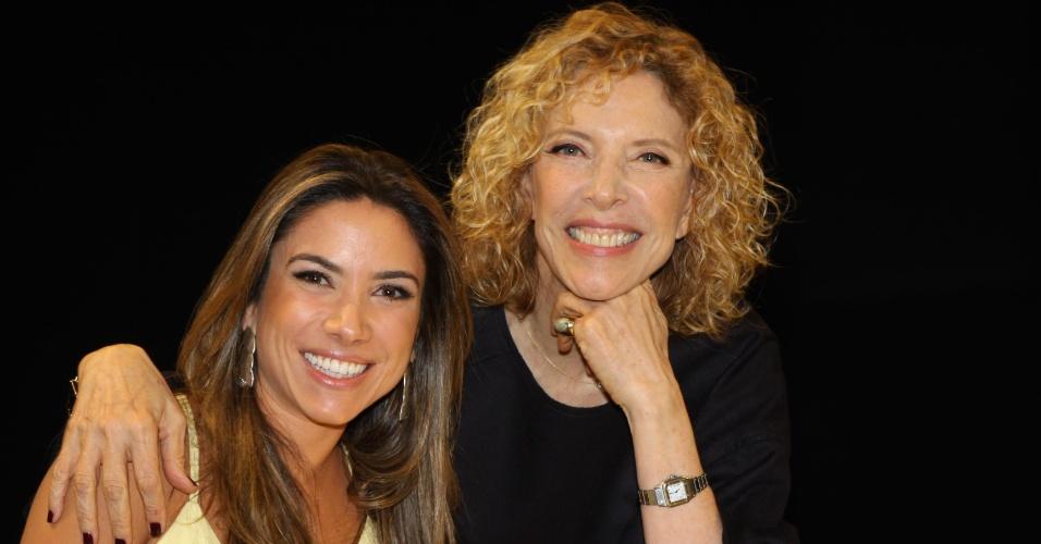 Patricia Abravanel e Marilia Gabriela em foto para o