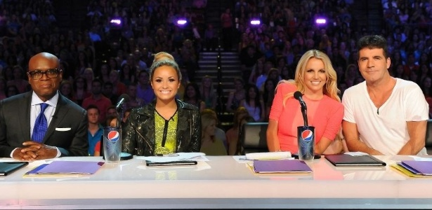 LA Reid, Demi Lovato, Britney Spears e Simon Cowell na primeira audi&#231;&#227;o da nova temporada do &#34;X Factor&#34;