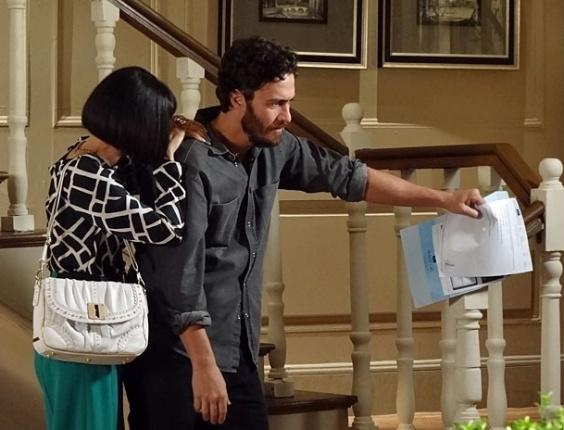 """Cassia Kis Magro e Gabriel Braga Nunes em cena de """"Amor Eterno Amor"""" (29/5/2012)"""
