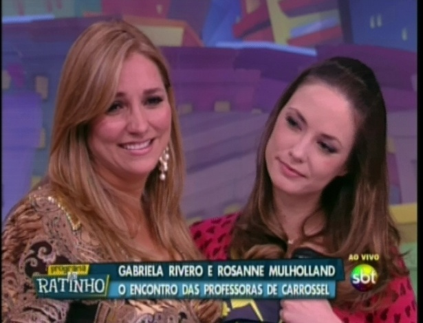 Gabriela Rivero e Rosanne Mulholland no Programa do Ratinho (29/5/12)