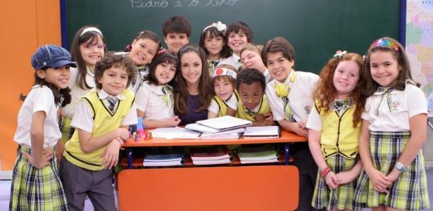 """Professora Helena e as crianças de """"Carrossel"""" (maio/2012)"""