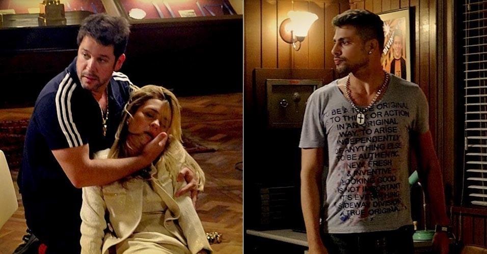 """Em """"Avenida Brasil"""", Jorginho conta para Tufão que Carminha é sua mãe biológica e o abandonou no lixão (6/6/12)"""