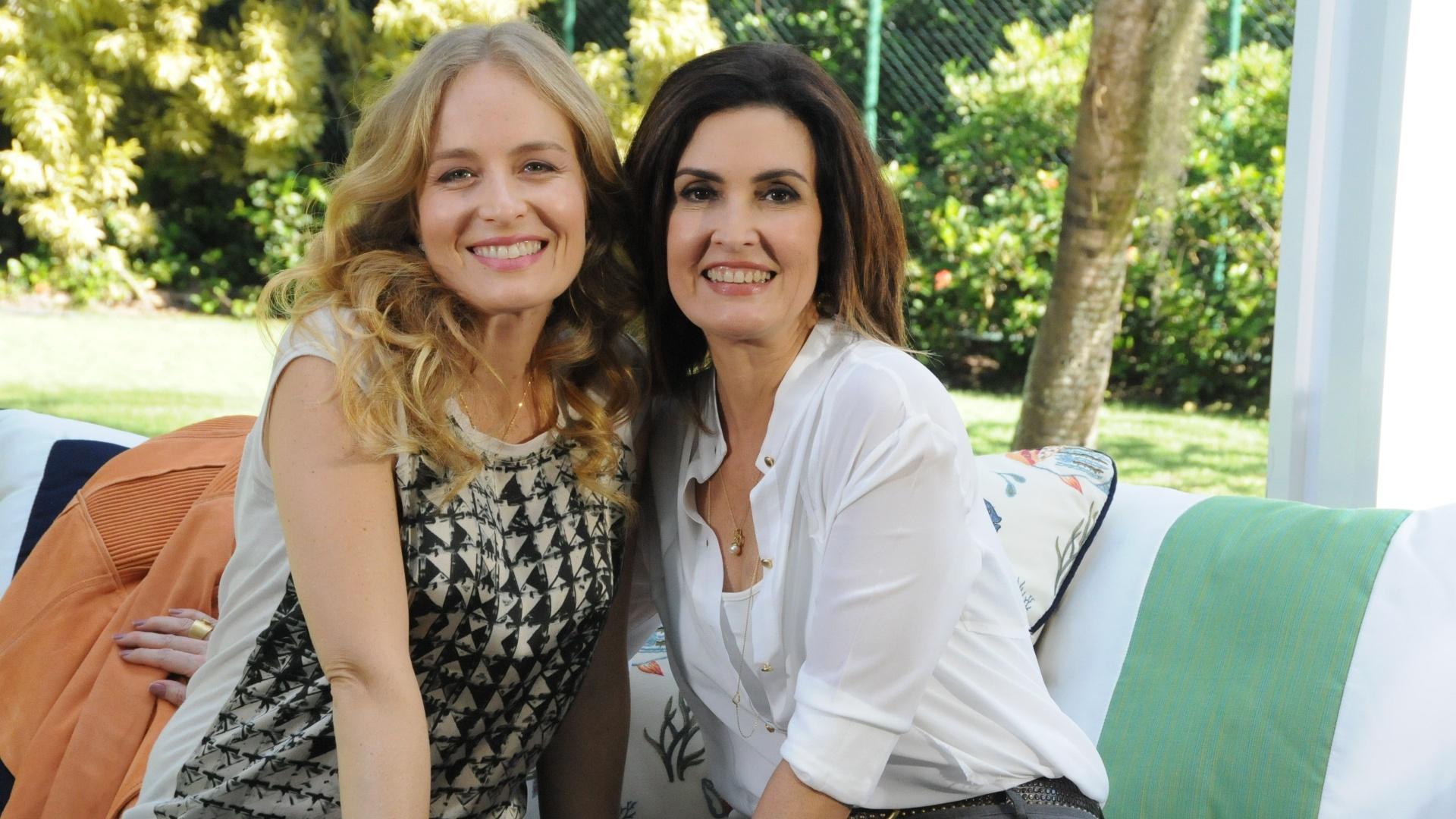 Angélica recebe a jornalista e apresentadora Fátima Bernardes no