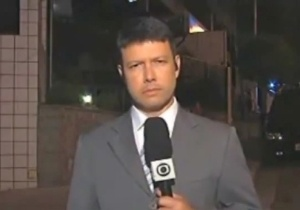 Rep&#243;rter C&#233;sar Menezes, da Globo