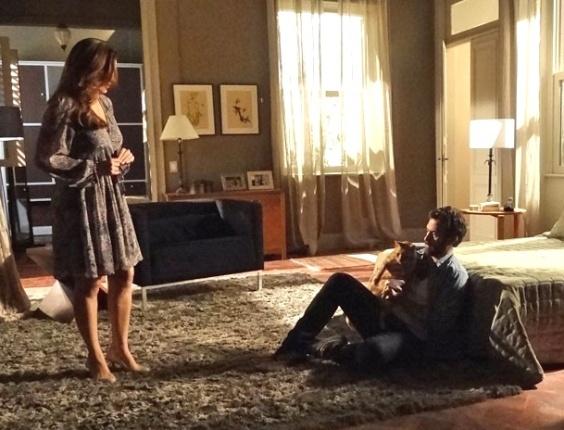 """Elisa (Mayana Neiva) e Rodrigo (Gabriel Braga Nunes) em cena de """"Amor Eterno Amor"""" (22/6/12)"""