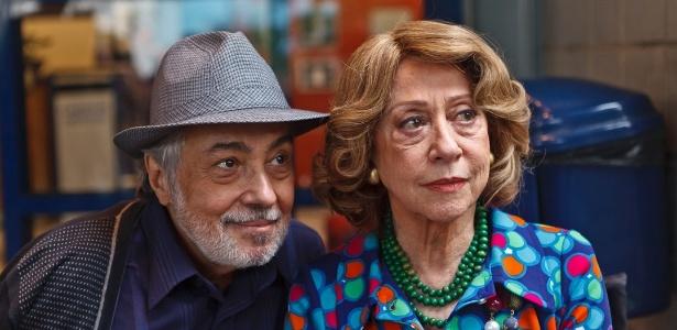 """Fernanda Montenegro é Mary no episódio """"Maria do Brasil"""" da série """"As Brasileiras"""" (25/6/12). Pedro Paulo Rangel interpreta Ney, seu grande amigo"""