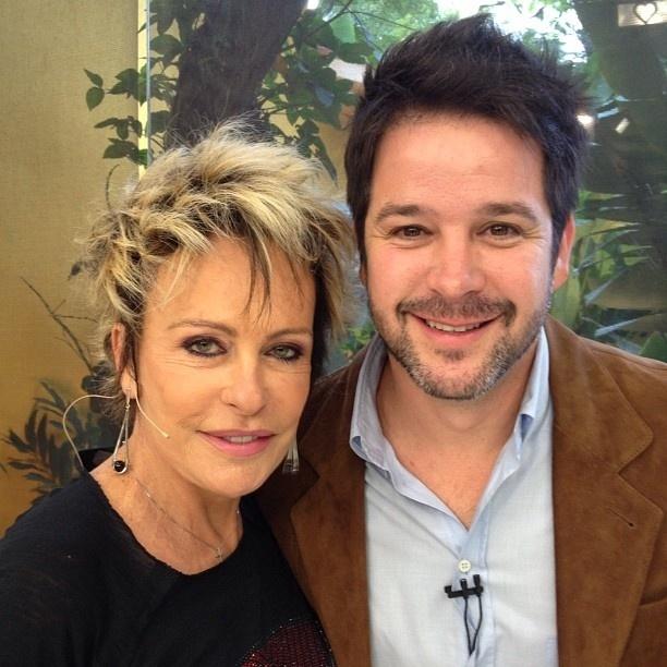 Ana Maria Braga recebe o ator Murilo Benício no programa