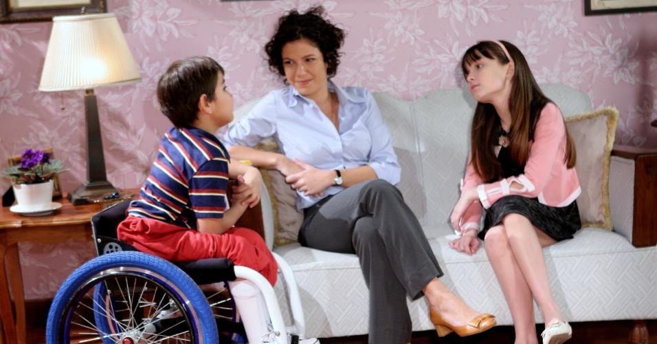 """Ator mirim cadeirante grava as primeiras cenas de sua participação em """"Carrossel"""""""
