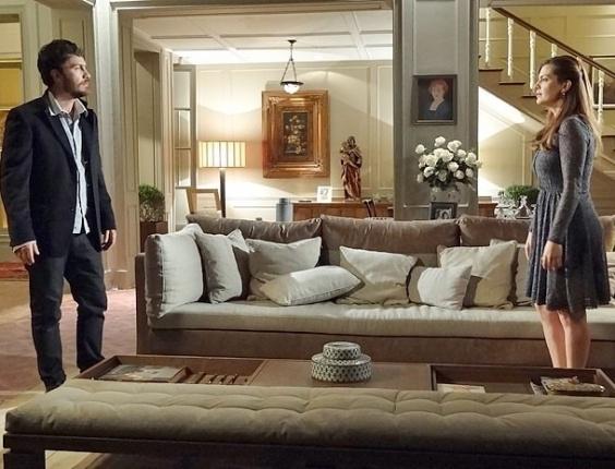"""Em """"Amor Eterno Amor"""", Rodrigo diz à Elisa que não vai se afastar de Miriam (17/7/12)"""
