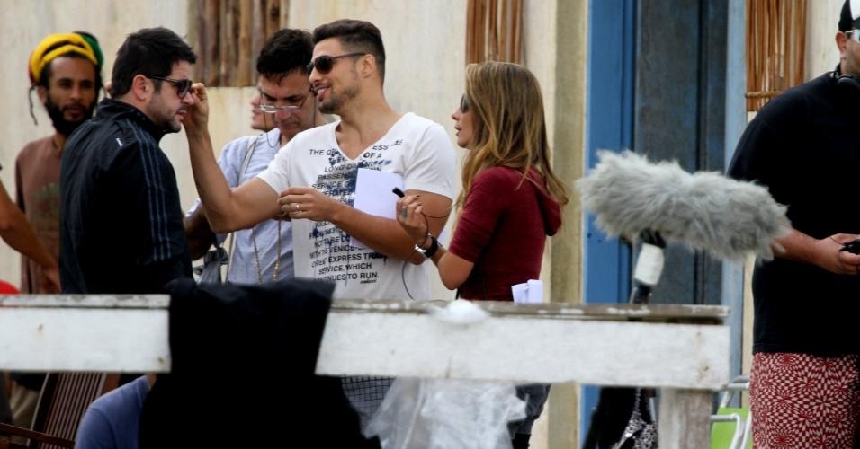 """Cauã Reymond e Murilo Benício gravaram cenas de """"Avenida Brasil"""" em Cabo Frio, região dos lagos do Rio (18/7/12)"""