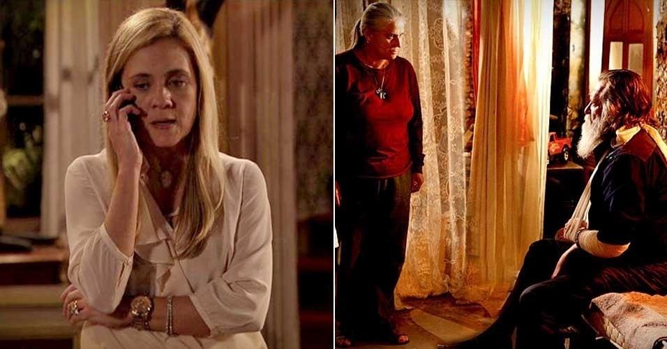 """Em """"Avenida Brasil"""", Carminha confisca o celular de Nina e impede Lucinda de alertar a cozinheira (20/7/12)"""