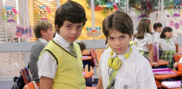 """Mario Ayala e Paulo Guerra, atores mirins de """"Carrossel"""" (1/8/12)"""