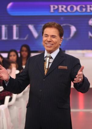 """Silvio Santos durante apresentação do """"Programa Silvio Santos"""""""