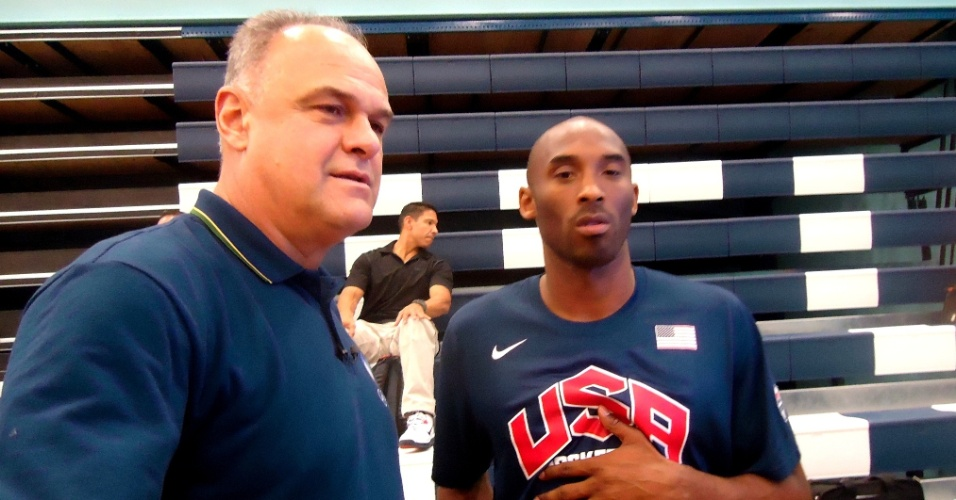Oscar Schmidt e Kobe Bryant nas Olimpíadas de Londres (2012)