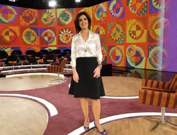O sapato anabela azul, usado pela apresentadora Fátima Bernardes ficou em nona colocação entre os figurinos mais pedidos