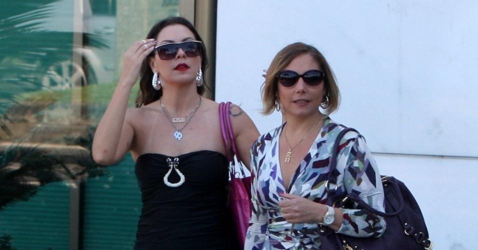"""Fabíula Nascimento e Heloísa Perrisé gravam cena de """"Avenida Brasil"""" (8/8/12)"""