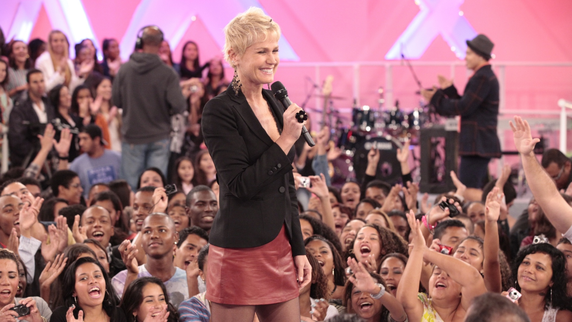 Xuxa durante apresentao do 