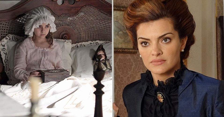 """Em """"Amor Eterno Amor"""", Clara faz nova refressão e vê rosto da falsa Elisa (9/8/12)"""