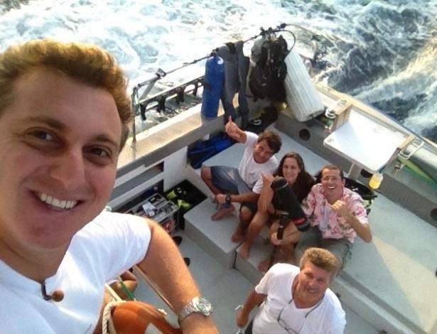 Luciano Huck divulga imagem de sua viagem ao Havaí (14/8/2012)