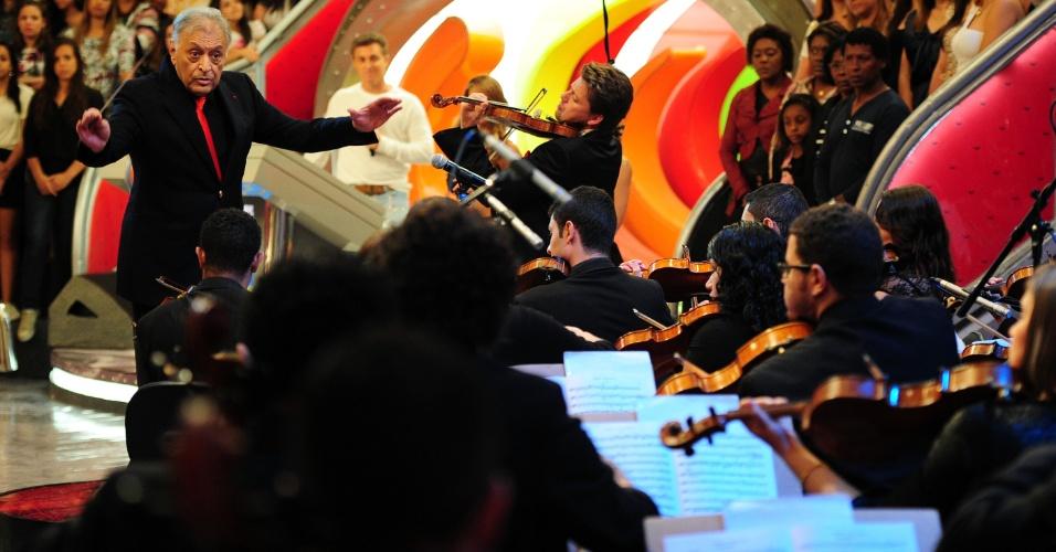 Maestro Zubin Mehta rege Orquestra Sinfônica de Heliópolis no programa