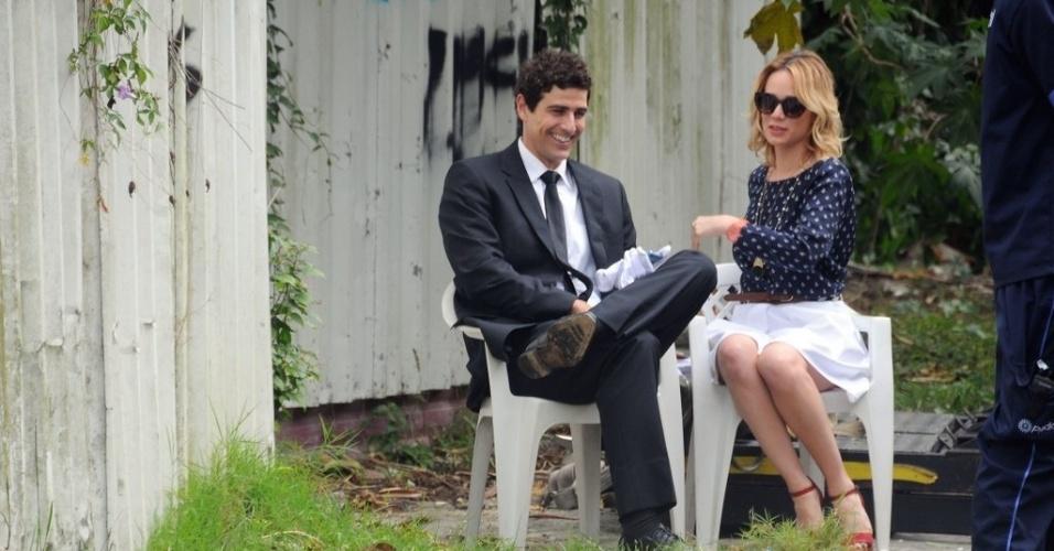Reynaldo Gianecchini e Mariana Ximenes gravaram nesta quinta cenas da novela