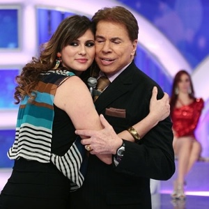 Lvia Andrade e Silvio Santos, que fazem junto o 