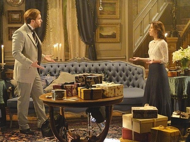 """Em """"Lado a Lado"""", Edgar e Laura assumem um ao outro que não queriam ter se casado (14/9/12)"""