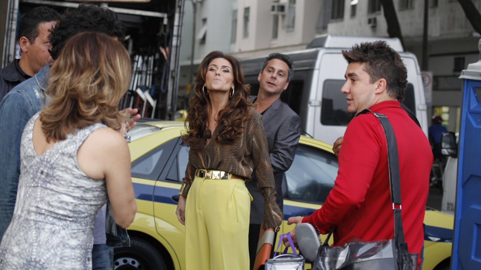 Giovanna Antonelli e Alexandre Nero gravam cena de briga para a novela