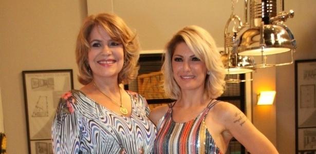 As atrizes Silvia Bandeira e Antonia Fontenelle participam de lançamento da novela da Record