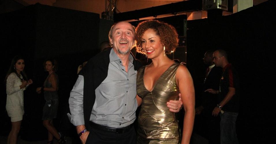 Hans Donner e Valeria Valenssa no 19º Prêmio Multishow (18/9/12).