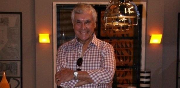 O ator Paulo Figueiredo durante evento de lançamento da novela