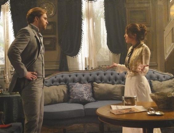 """Em """"Lado a Lado"""", Laura briga, mas Edgar se declara: """"Adoro o seu jeito. Comigo você vai ter paz"""""""