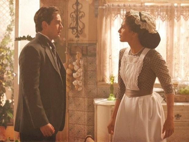 """Em """"Lado a Lado"""", Isabel chama Albertinho de """"cachorro"""" e pede para ele sumir de sua vida (21/9/12)"""