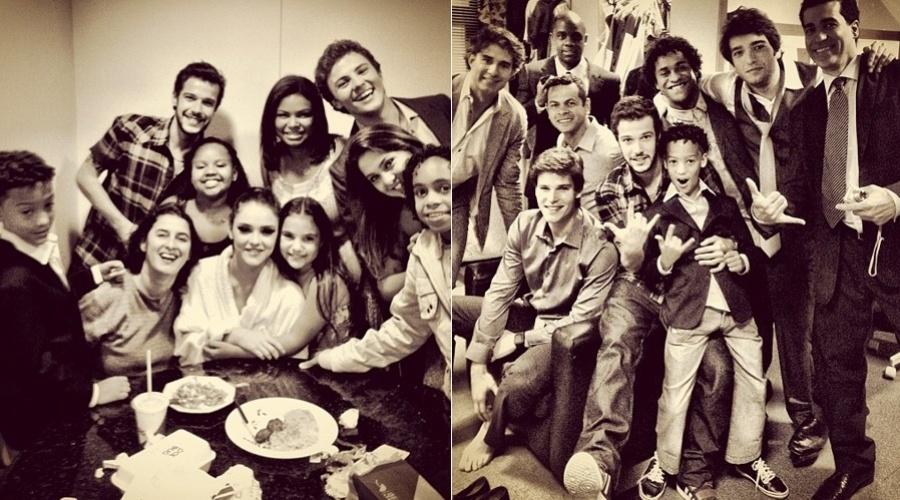 """O ator Jayme Matarazzo divulgou imagens dos bastidores da novela """"Cheias de Charme"""" por meio de sua página do Twitter (26/9/12)"""
