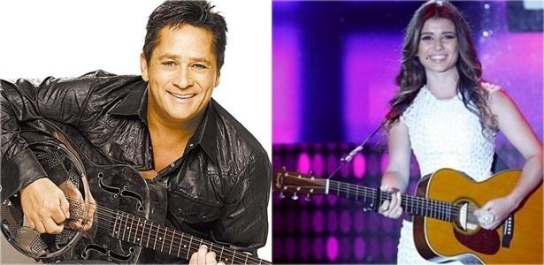 O cantor Leonardo e a cantora Paula Fernandes